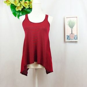 Splendid  red and navy striped tank